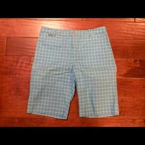Women's Ralph Lauren active golf shorts blue/white